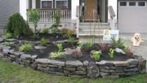 Outdoor garden decor landscaping flower beds ideas 31