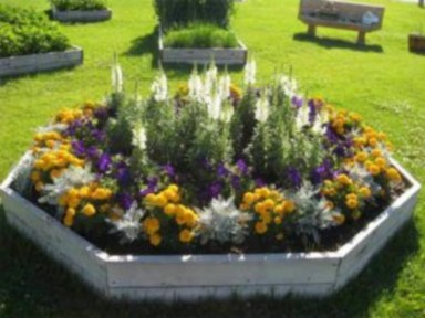 Outdoor garden decor landscaping flower beds ideas 47