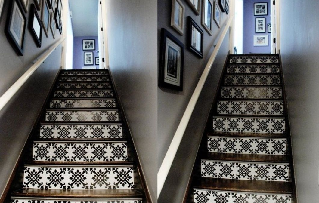 34 Painted Staircase Ideas which Make Your Stairs Look New