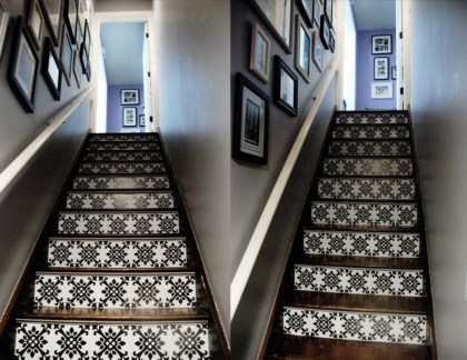Painted staircase ideas which make your stairs look new 08
