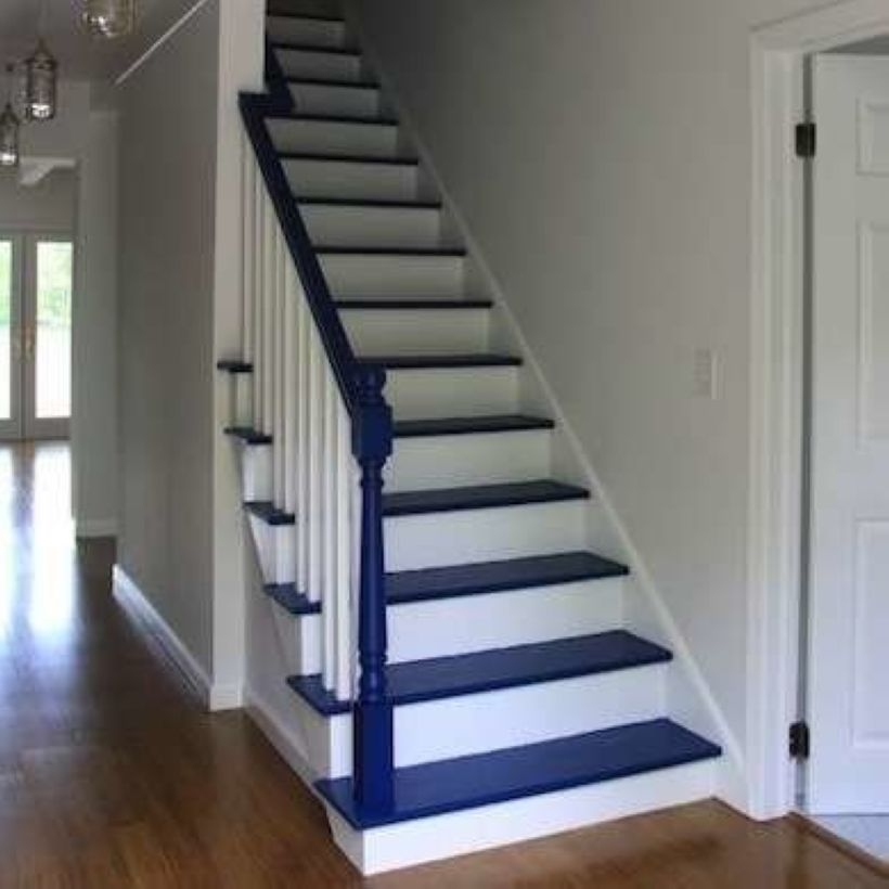 Painted staircase ideas which make your stairs look new 17