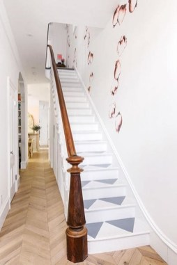Painted staircase ideas which make your stairs look new 20