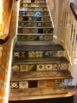Painted staircase ideas which make your stairs look new 24