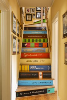 Painted staircase ideas which make your stairs look new 25