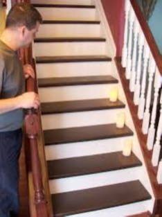 Painted staircase ideas which make your stairs look new 26
