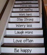 Painted staircase ideas which make your stairs look new 29