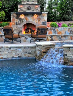 Pool waterfalls ideas for your outdoor space 02