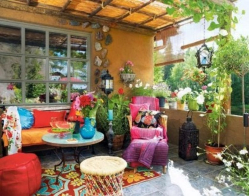 Shabby chic and bohemian garden ideas 41