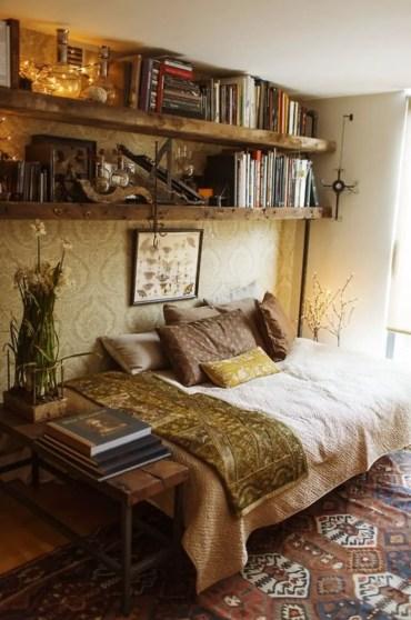 Stunning bookshelves ideas for bedroom decoration 04