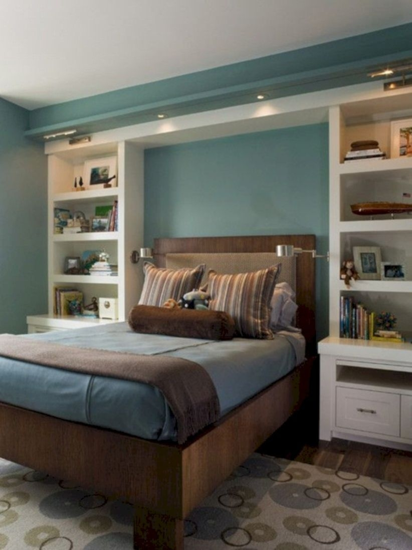Stunning bookshelves ideas for bedroom decoration 07