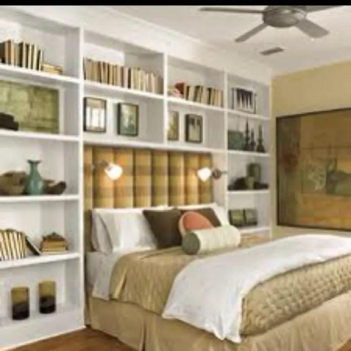 Stunning bookshelves ideas for bedroom decoration 16