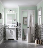 Stunning mosaic tiled wall for your bathroom 03