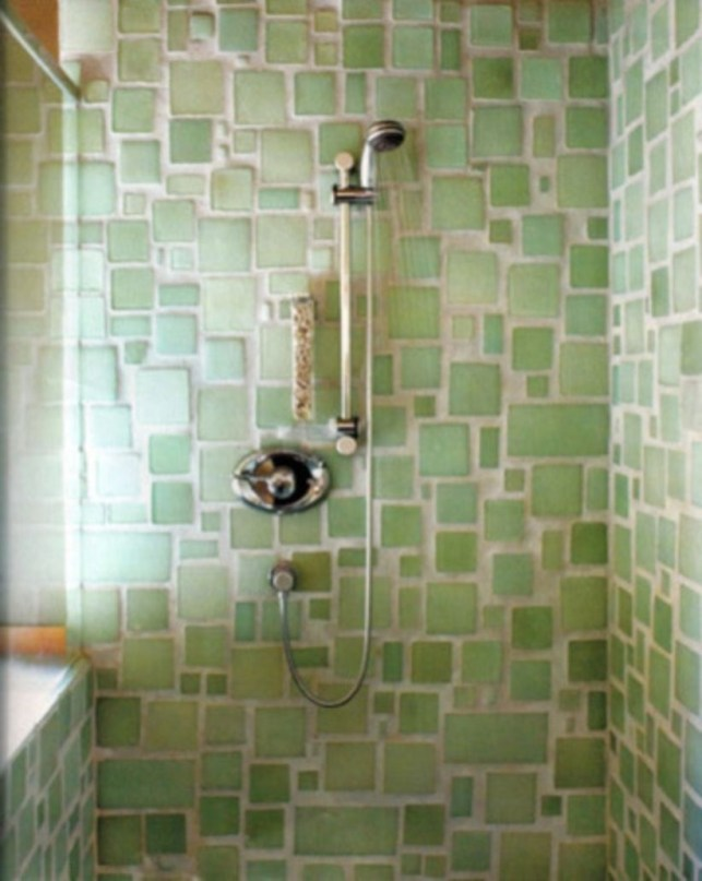 Stunning mosaic tiled wall for your bathroom 09