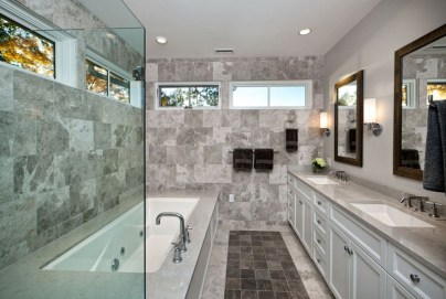 Stunning mosaic tiled wall for your bathroom 25