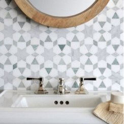 Stunning mosaic tiled wall for your bathroom 29