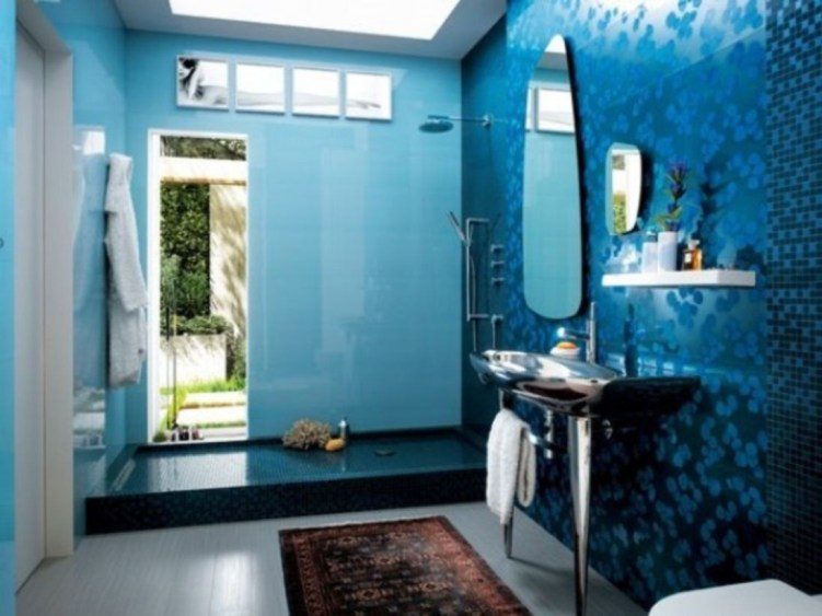 Stunning mosaic tiled wall for your bathroom 35