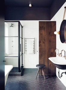 Stunning wood accents to refresh your bathroom 12