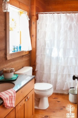 Stunning wood accents to refresh your bathroom 17