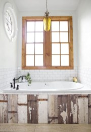 Stunning wood accents to refresh your bathroom 19