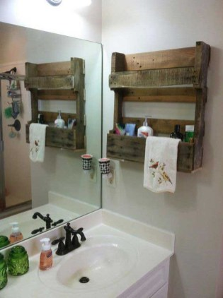 Stunning wood accents to refresh your bathroom 25