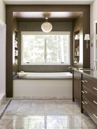 Stunning wood accents to refresh your bathroom 26
