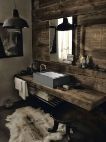 Stunning wood accents to refresh your bathroom 27