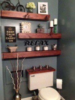 Stunning wood accents to refresh your bathroom 31