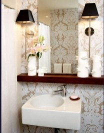 Stunning wood accents to refresh your bathroom 36