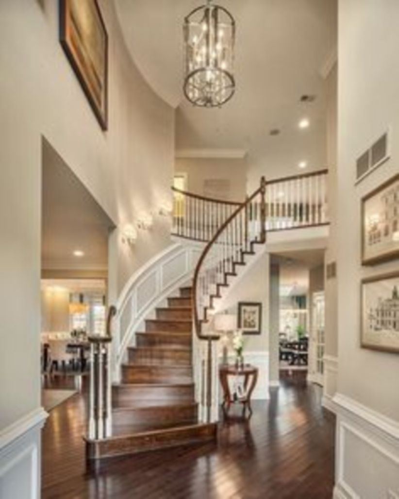 Ways to decorate with chandelier over the stairs 03