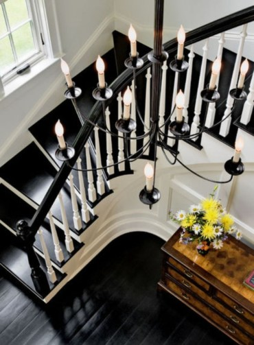 Ways to decorate with chandelier over the stairs 15