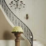 Ways to decorate with chandelier over the stairs 25