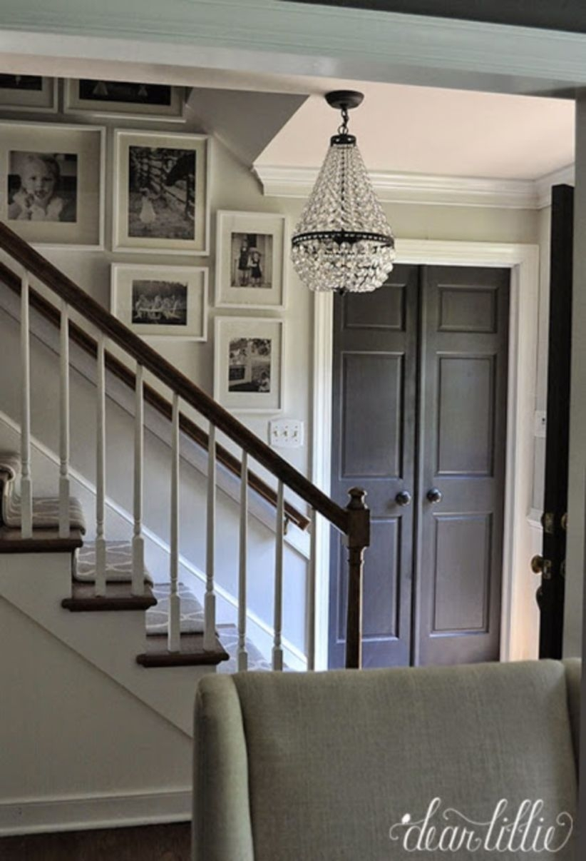Ways to decorate with chandelier over the stairs 28