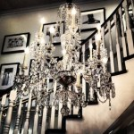Ways to decorate with chandelier over the stairs 34