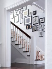 White wall and picture frames in hallway decorating ideas 02