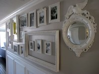 White wall and picture frames in hallway decorating ideas 13
