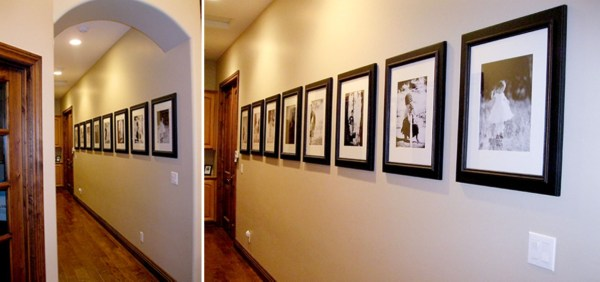 White Wall And Frames In Hallway Decorating