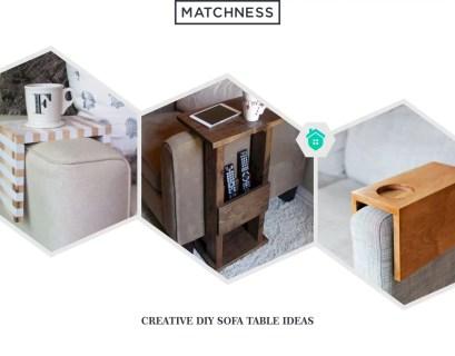 19. diy sofa table ideas