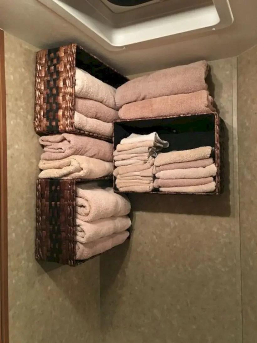 Bathroom camper storage