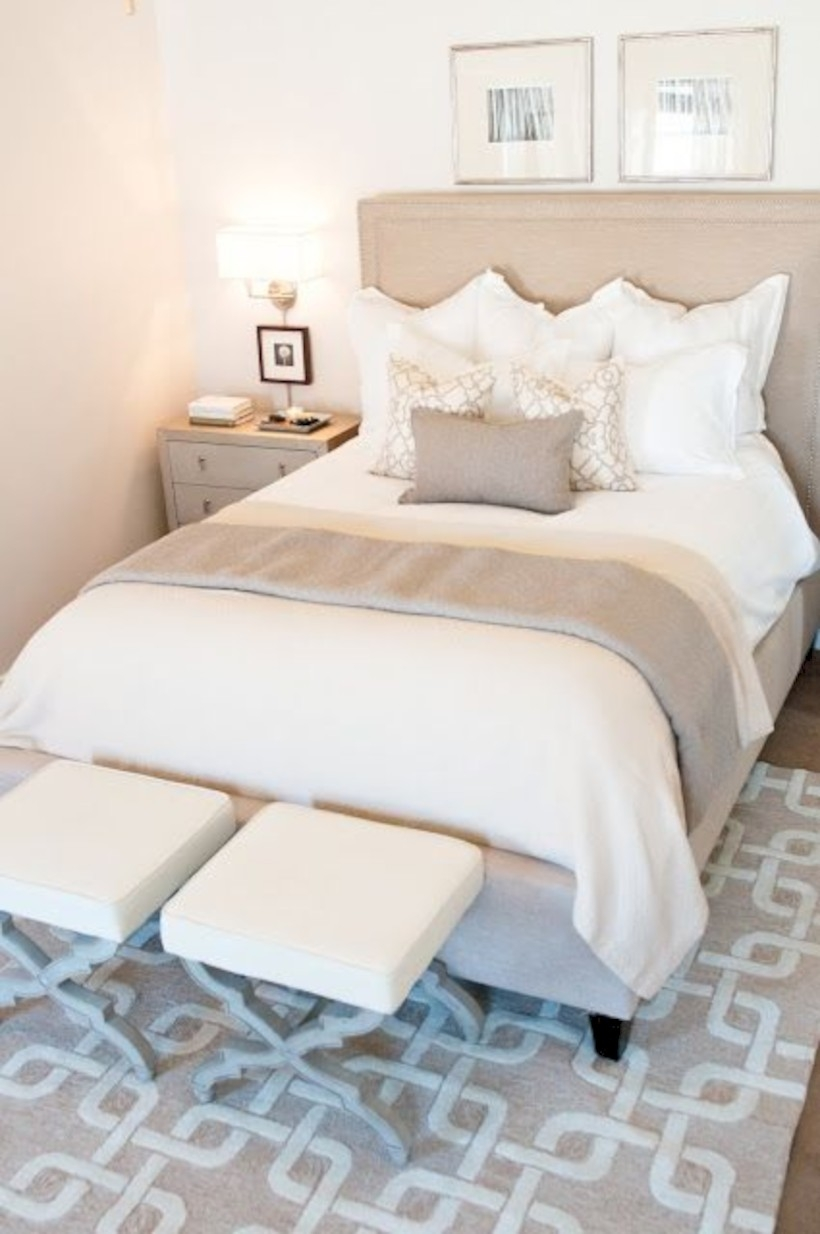 Bedroom with similar colors