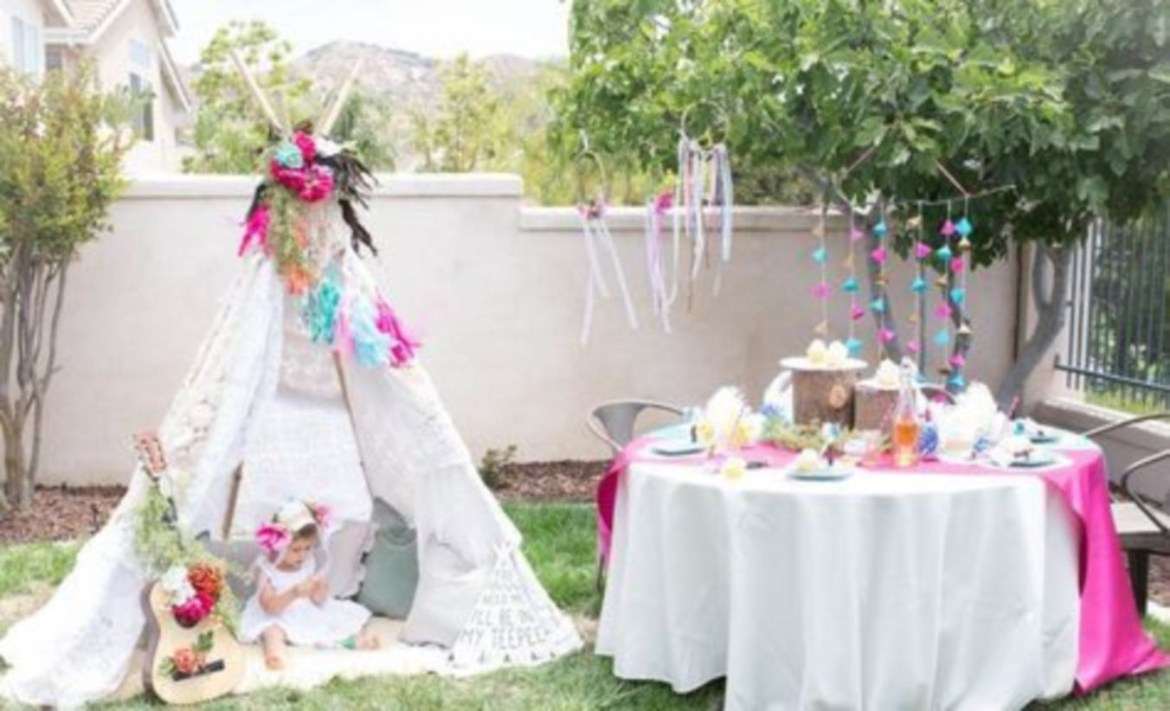 Bohemian tribal teepee party, a girl's birthday party for the tribe