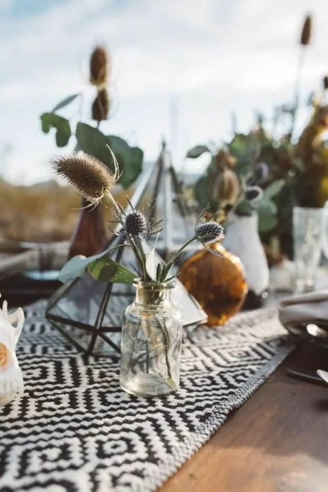 Bohemian wedding table settings inspiration