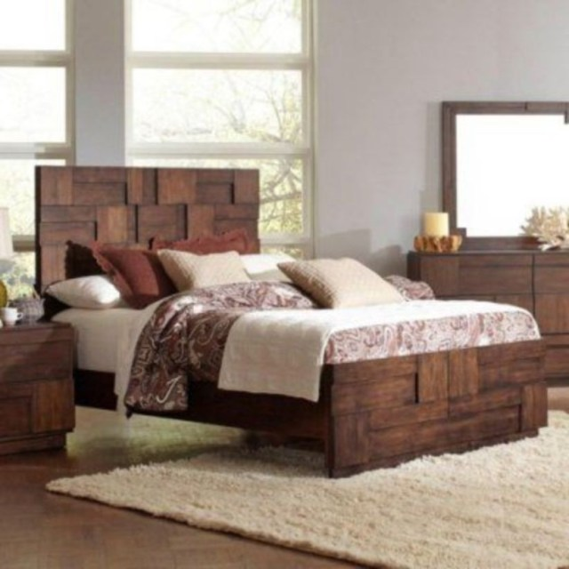 Coaster furniture gallagher panel bed, size king