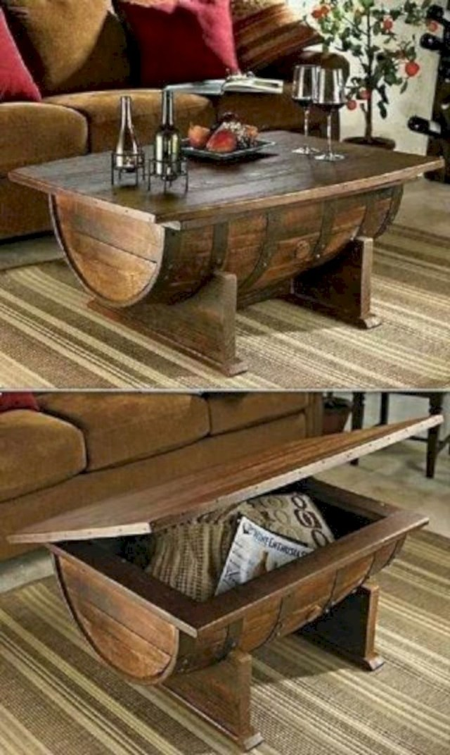 Cool half barrel table