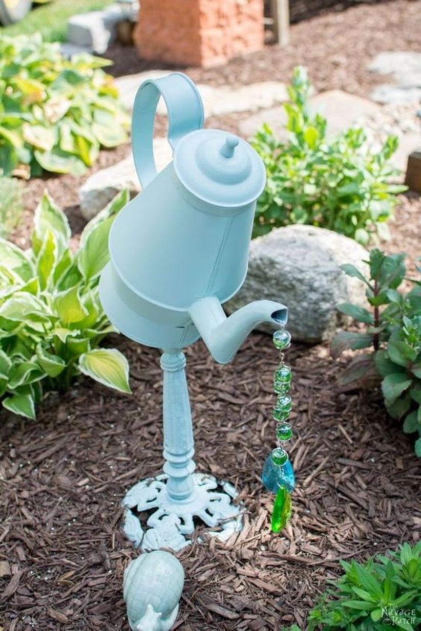 Diy garden decor upcycled and repurposed garden decor