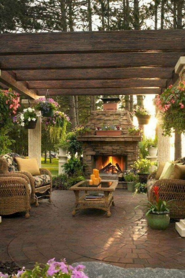17 Cool and Relaxing Outdoor Living Spaces Design Ideas ... on Backyard Outdoor Living Spaces id=74109