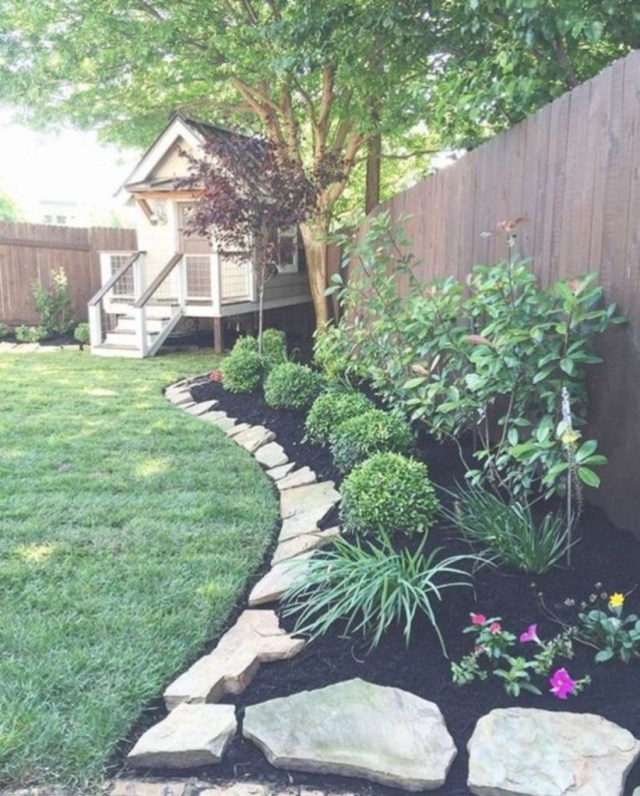 Genius borderline with rock edging ideas