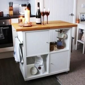 Ikea kallax kitchen island hack