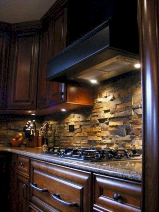 Kitchen stone backsplash love