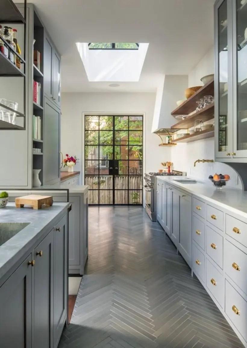 Kitchen with brooklyn brownstone