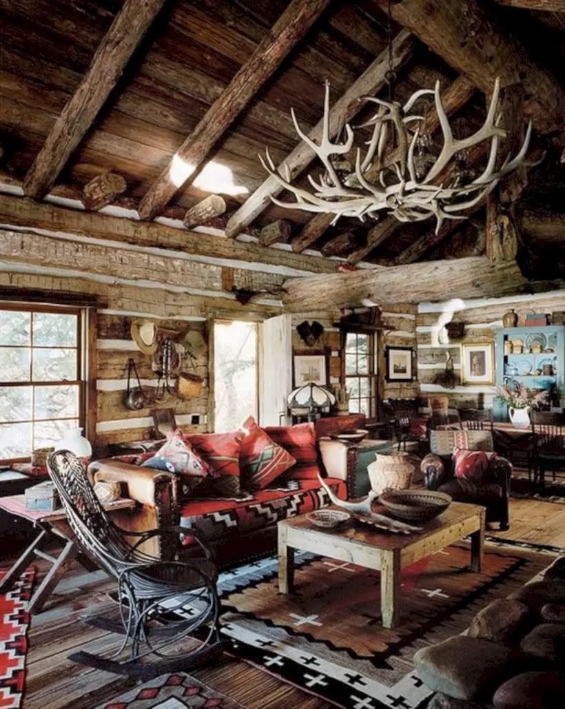Living room adirondack style